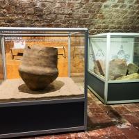 Fragment ekspozycji Pradzieje ziemi konińskiej w zamku