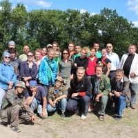 Uczestnicy Międzynarodowego Obozu Archeologicznego