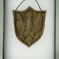 Ryngraf wykonany z masy chlebowej przez Franciszka Romaszkę, w czasie internowania w stanie wojennym
