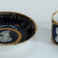 Filiżanka ze spodkiem, porcelana, XIX w. naśladownictwo Sèvres