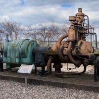 Turbozespół firmy Siemens- Schuckert (lata 20. XX w.) z elektrowni zlikwidowanej brykietowni w Ko