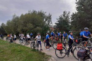 Cykliści w muzeum