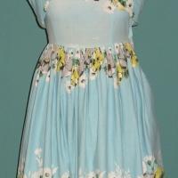 Sukienka, bawełna, wyrób domowy, Polska 1956 r